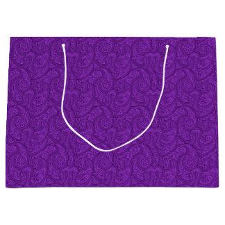 Purple Paisley Large Gift Bag