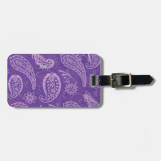Purple Paisley Luggage Tag