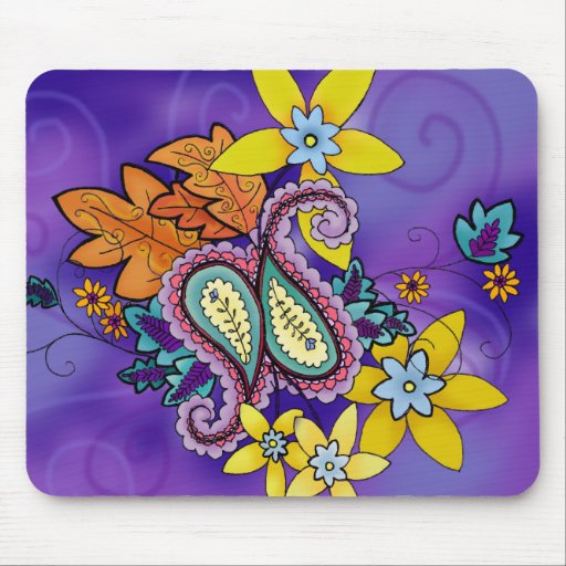 Purple Paisley mousepad