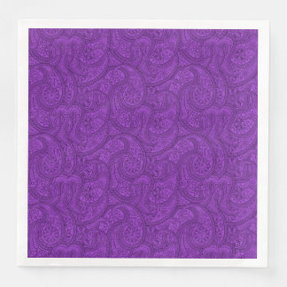 Purple Paisley Paper Napkins