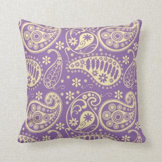 Purple Paisley Pattern Cushion
