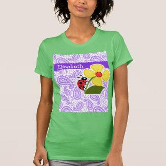 Purple Paisley Pattern Ladybug Shirt