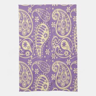 Purple Paisley Pattern Tea Towel