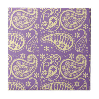 Purple Paisley Pattern Tile