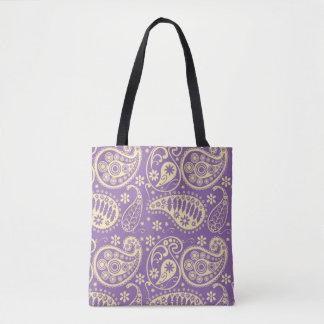 Purple Paisley Pattern Tote Bag