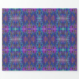 Purple Paisley Pattern Wrapping Paper
