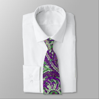 Purple Paisley Peacock Colors Wedding Tie