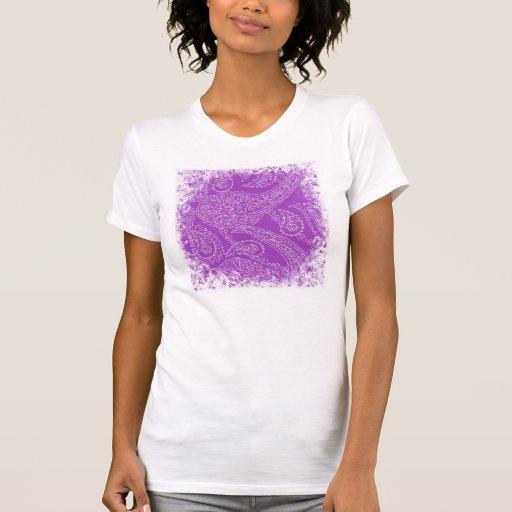 Purple Paisley Print Summer Fun Girly Pattern Tees