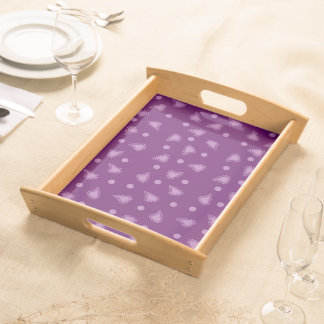 Purple Paisley Serving Tray