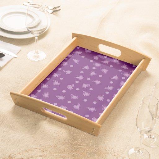 Purple Paisley Serving Tray