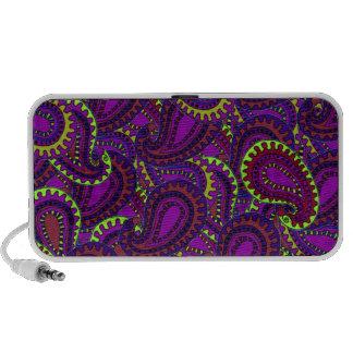 Purple Paisley Notebook Speaker