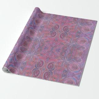 purple paisley swirls wrapping paper