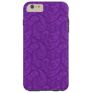 Purple Paisley Tough iPhone 6 Plus Case