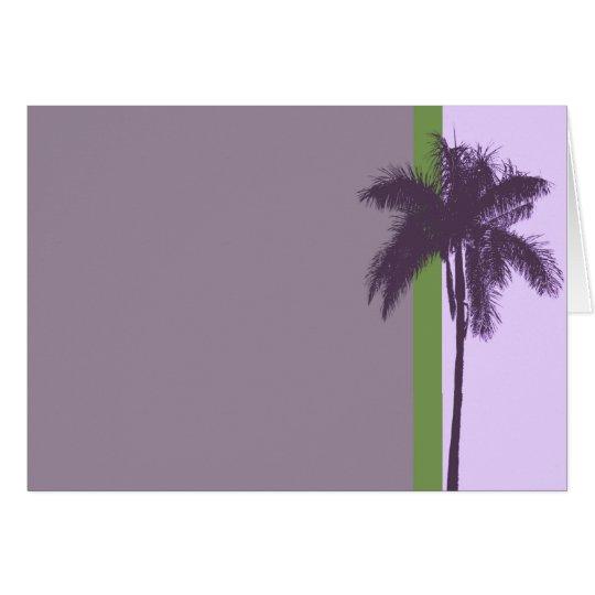 Purple-Palm Card