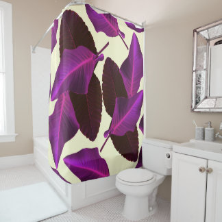 Purple Palms Shower Curtain