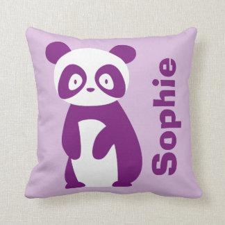 Purple Panda (Any Name) Personalised Cushion