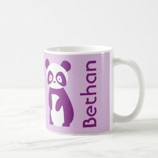 Purple Panda (Any Name) Personalised Mug