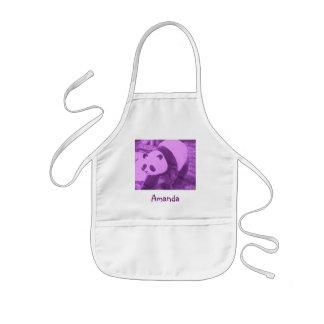 purple panda kids apron