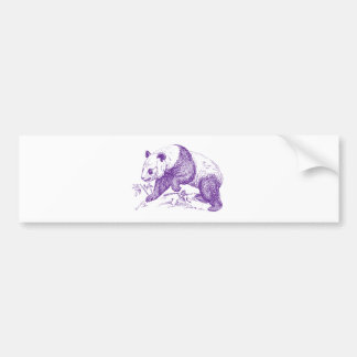 Purple Panda Bear Bumper Sticker