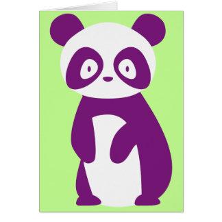 Purple Panda Greetings Card