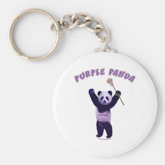 Purple Panda Lacrosse Key Chains