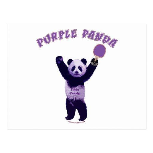 Purple Panda Ping Pong Post Card
