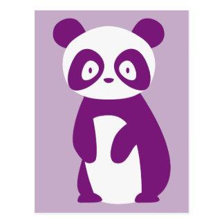 Purple Panda Postcard