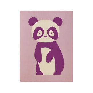 Purple Panda Poster