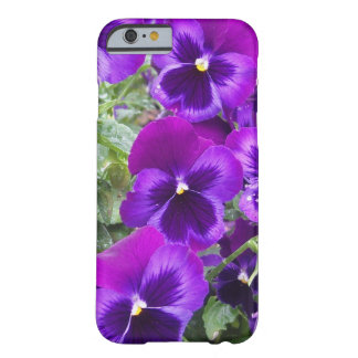 Purple Pansies Barely There iPhone 6 Case