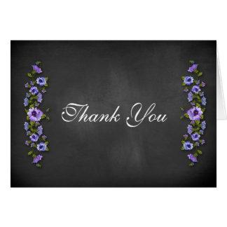 Purple Pansies, Chalkboard Greeting Card