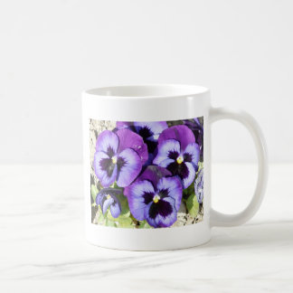 purple pansies coffee mug
