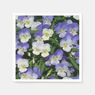 Purple Pansies Disposable Serviette