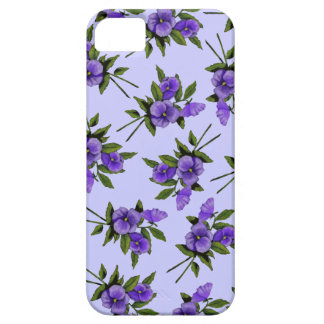 Purple Pansies: Flowers, Girly: Art Barely There iPhone 5 Case