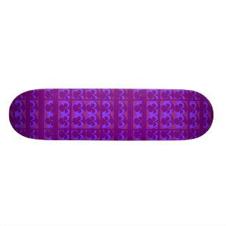 Purple Pansies in Rows and Columns Skate Board Decks