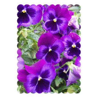 Purple Pansies 13 Cm X 18 Cm Invitation Card