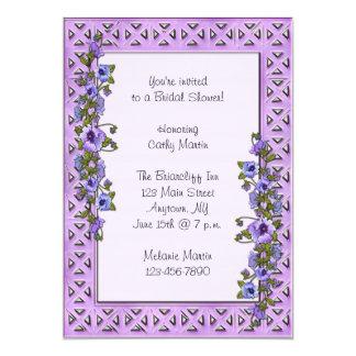 Purple Pansies Invitation