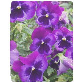 Purple Pansies iPad Cover