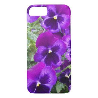 Purple Pansies iPhone 7 Case