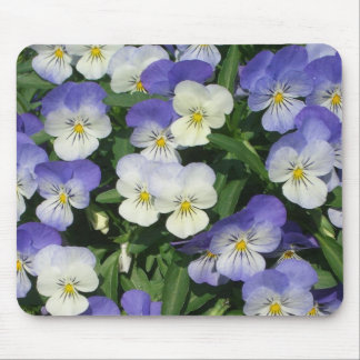 Purple Pansies Mouse Mat