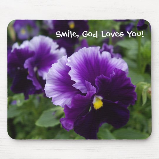 Purple Pansies Mousepad