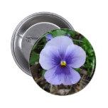 Purple Pansy 6 Cm Round Badge