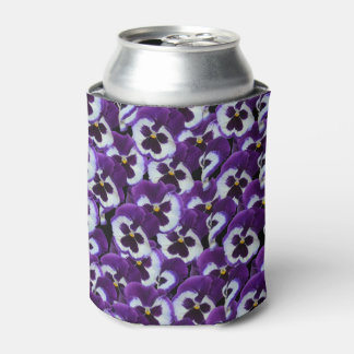 Purple_Pansy_Bouquet,_Stubby_Can_Cooler_Holder. Can Cooler