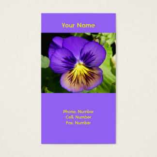 Purple Pansy Business Cards