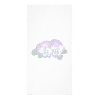Purple Pansy Duo Custom Photo Card