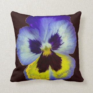 Purple Pansy Egg Plant Color  Pillow by Sharles