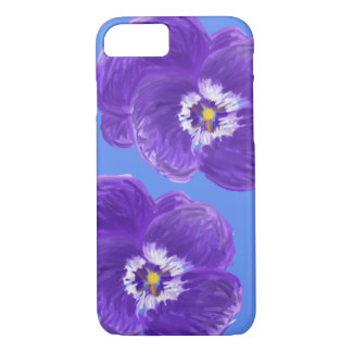 Purple Pansy Flower iPhone Case