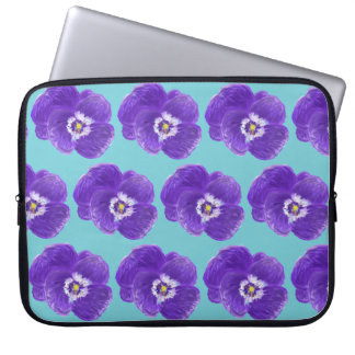 Purple Pansy Flower Laptop Sleeve