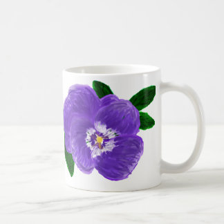 Purple Pansy Flower Mug