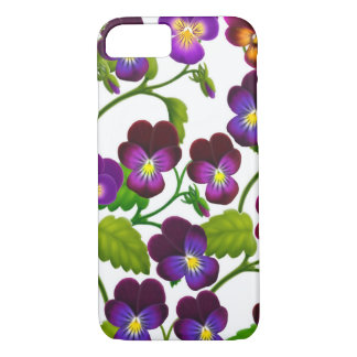 Purple Pansy Garden Flowers iPhone 7 case