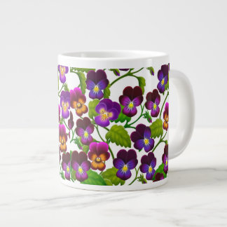 Purple Pansy Garden Plants Jumbo Mug